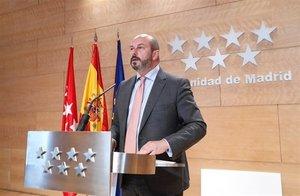 El presidente de la Comunidad de Madrid en funciones, Pedro Rollán.