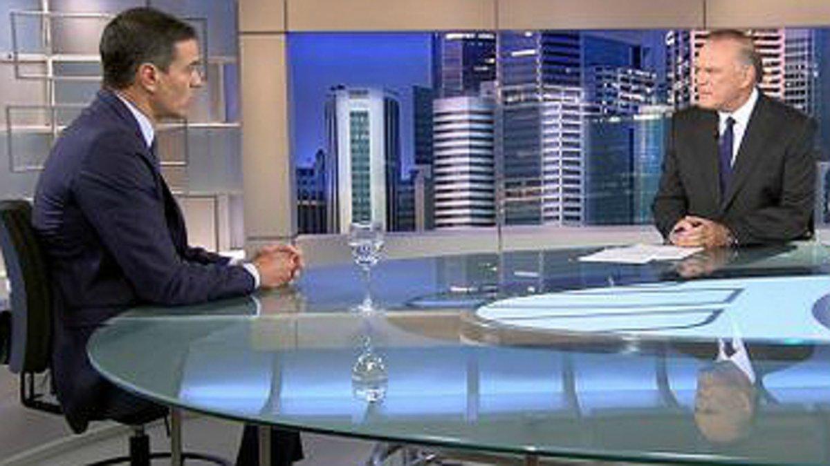 Pedro Sánchez en la entrevista en Telecinco.