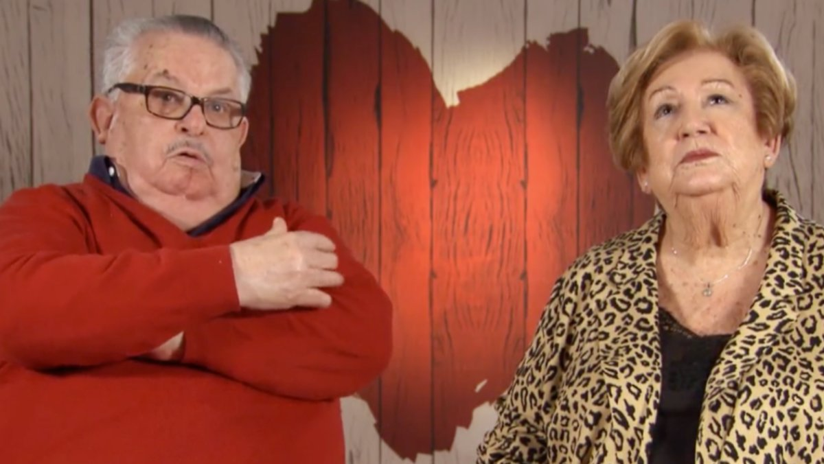 Pepe y Esther en 'First Dates'.