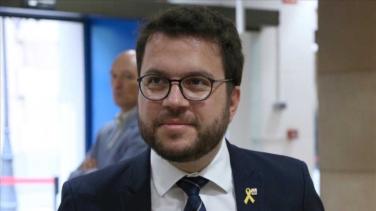 El vicepresidente del Govern, Pere Aragonès.