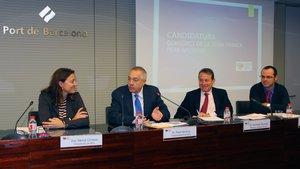 Pere Navarro en laAsamblea General de la asociación Barcelona-Catalunya Centre Logístic en la que se ha aprobado su nombramiento como presidente.