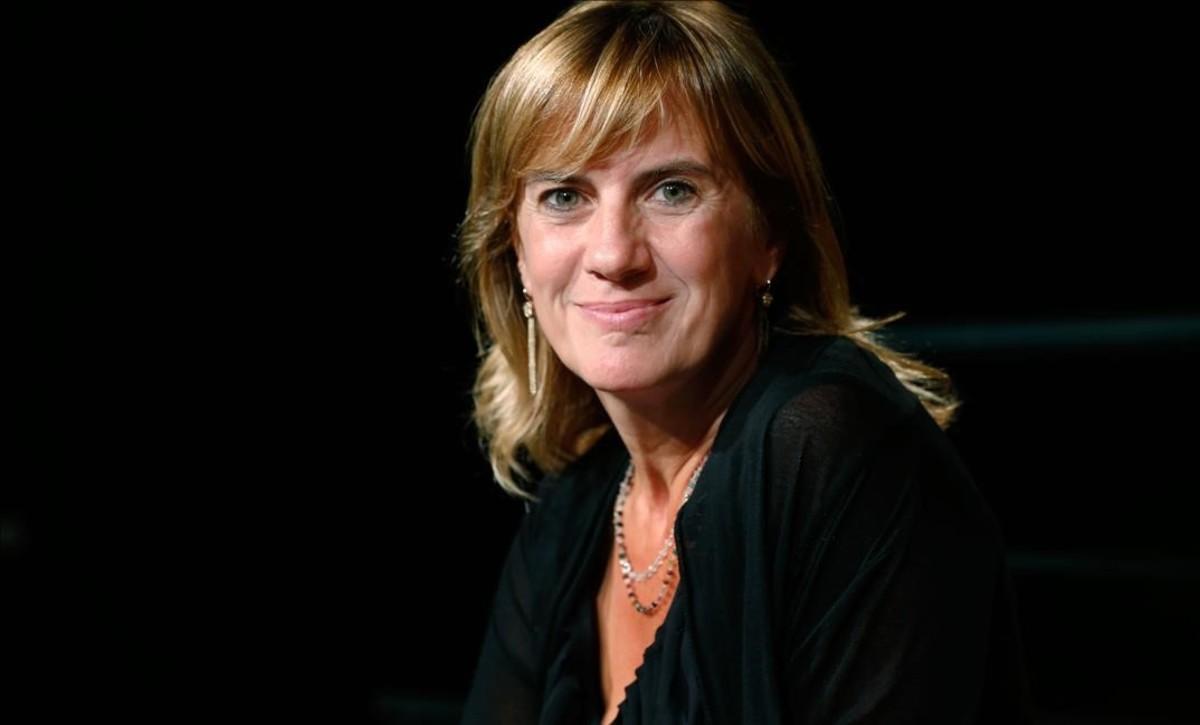 La periodista Gemma Nierga, ganadora de unPremio Ondas en 1997 por el programa Hablar por hablar, de la Cadena SER.
