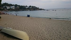 La playa de Roses, en Girona.