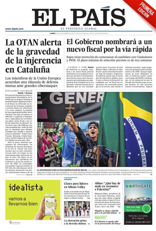 Las pruebas del 1-O, la OTAN y la injerencia rusa en Catalunya