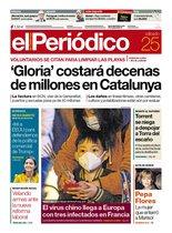 La portada de EL PERIÓDICO del 25 de enero del 2020