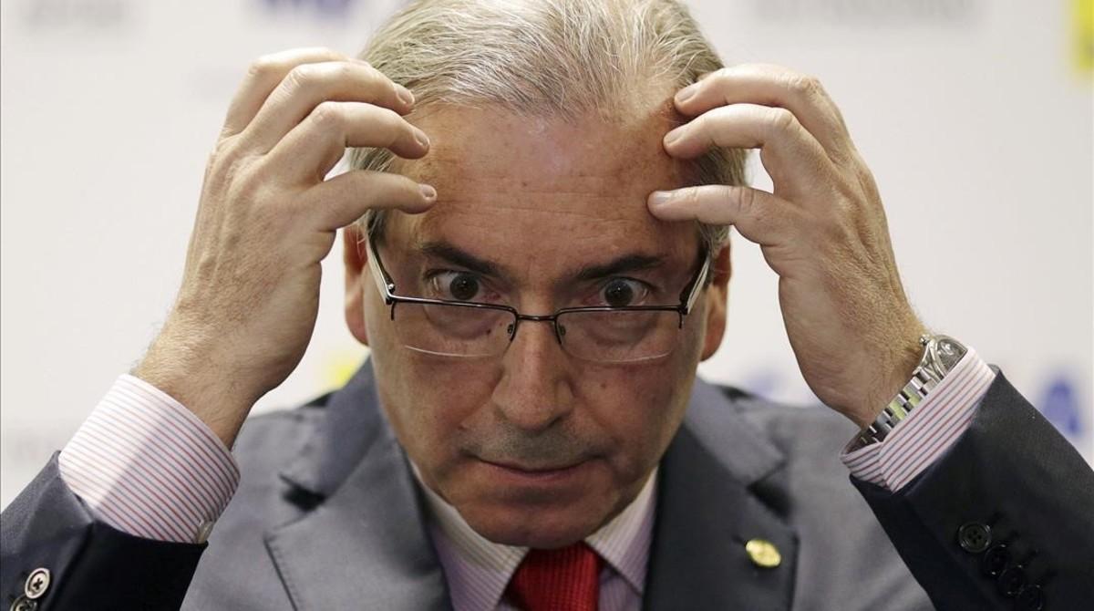 El presidente de la Cámara de Diputados de Brasil. Eduardo Cunha.