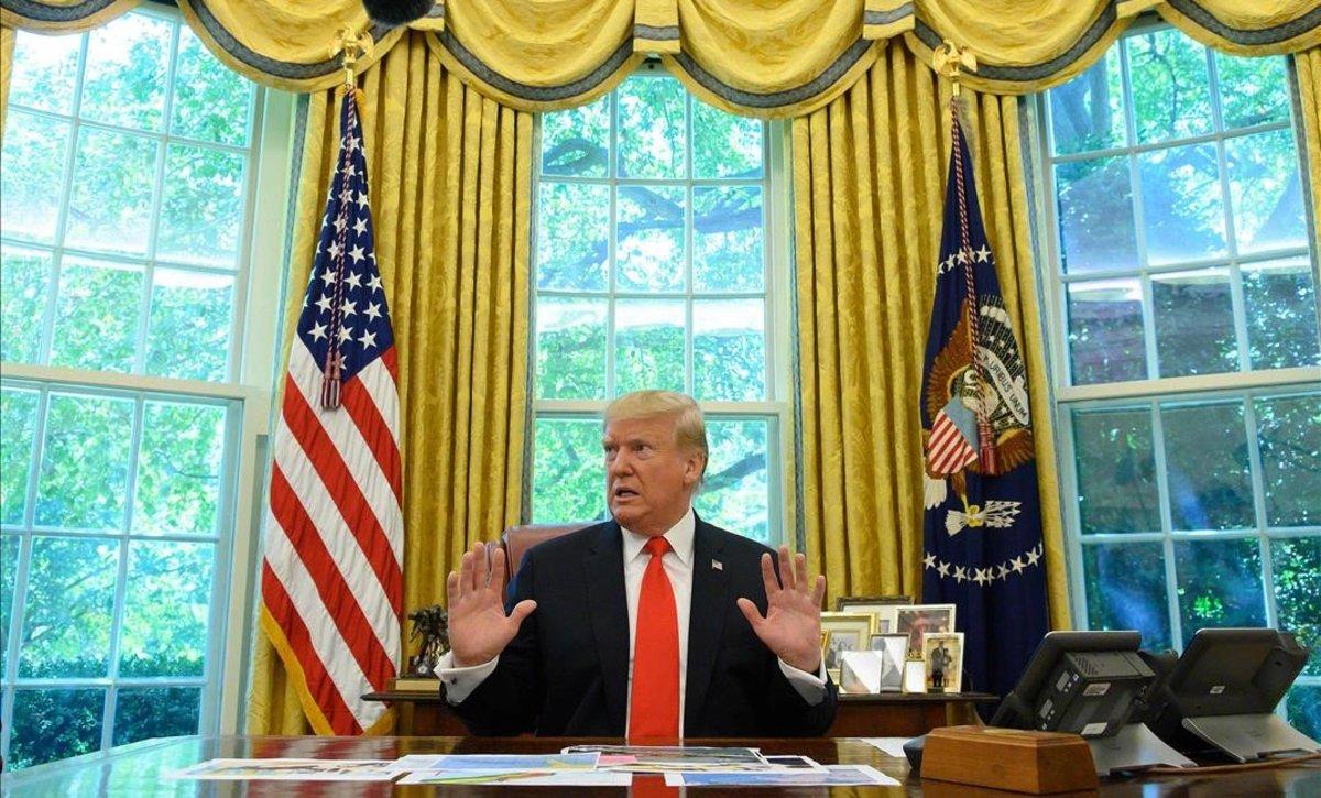 El presidente de los Estados Unidos, Donald Trump, en la Oficina Oval en la Casa Blanca en Washington DC