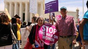 Protesta en defensa del aborto frente al Supremo de EEUU en mayo del 2019.