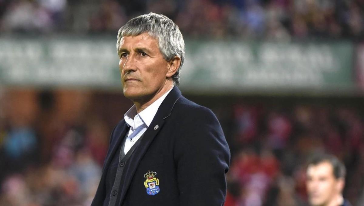 Quique Setién durante el partido de Liga contra el Granada.