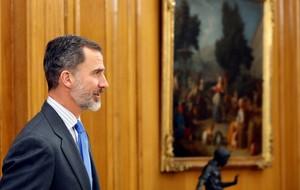 El rey Felipe VI, este lunes.