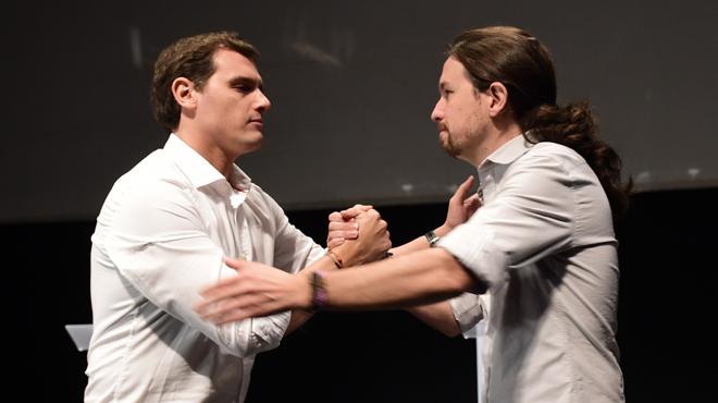 Els dos candidats a La Moncloa han esgrimit una diferent interpretació de la unitat a la Universitat Carles III.