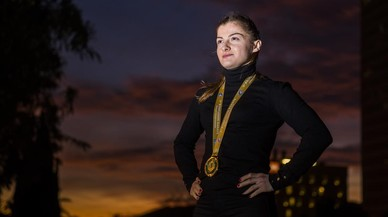 Teona Gazdeliani, una campiona del món a Santa Coloma