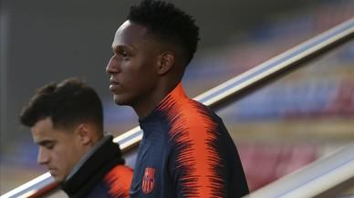 Yerry Mina apura las horas para salir del Barça