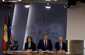 Rueda de prensa posterior a la reunion del Consejo de Ministros