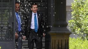 Manuel Moix el día que presentó su renuncia como fiscal jefe Anticorrupción.