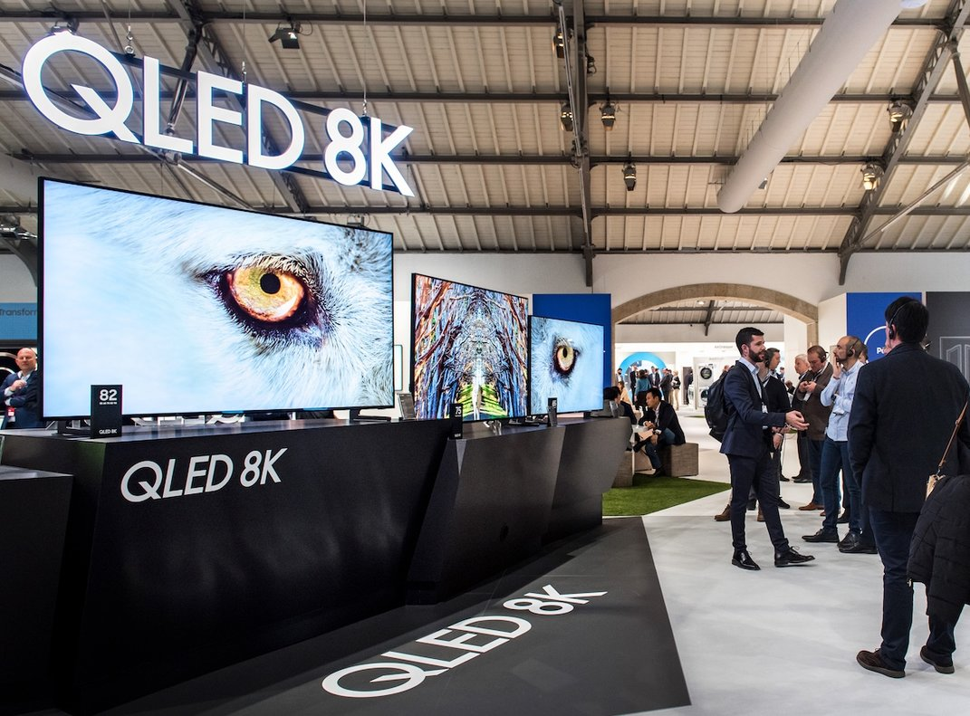 Presentación de los nuevos QLED 8K de Samsung.