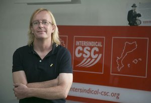 Sergi Perelló, secretario general de la Intersindical-CSC.