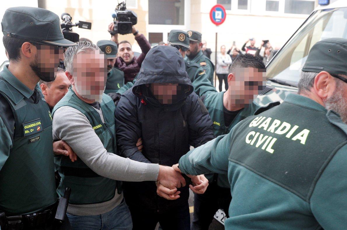 El sospechoso de la muerte de Marta Calvo, Jorge Ignacio P.J., a su llegada al juzgado.