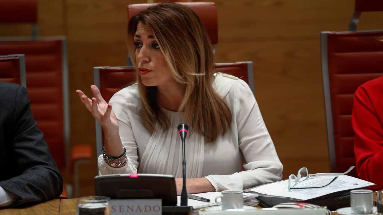 Susana Díaz en el Senado por el escándalo de corrupción en los ERE.