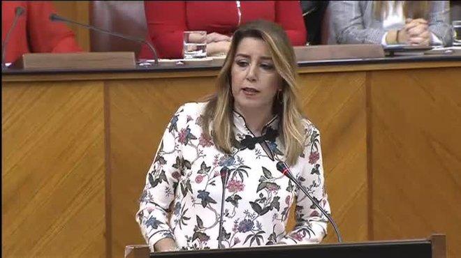 La líder del PSOE de Andalucía afea al candidato del PP a presidir la Junta el apoyo de la extrema derecha de Vox.