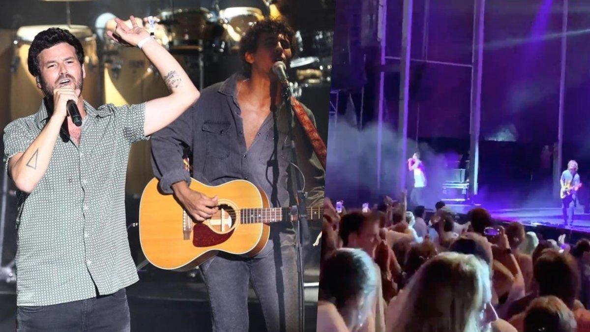 Taburete en Cap Roig y una imagen de su concierto en Starlite.