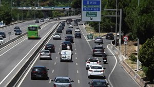 Tráfico en la A-6 en Madrid.