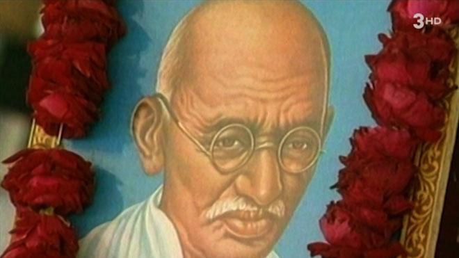 Recordando a Ghandi, en el 'TN vespre' (TV-3).