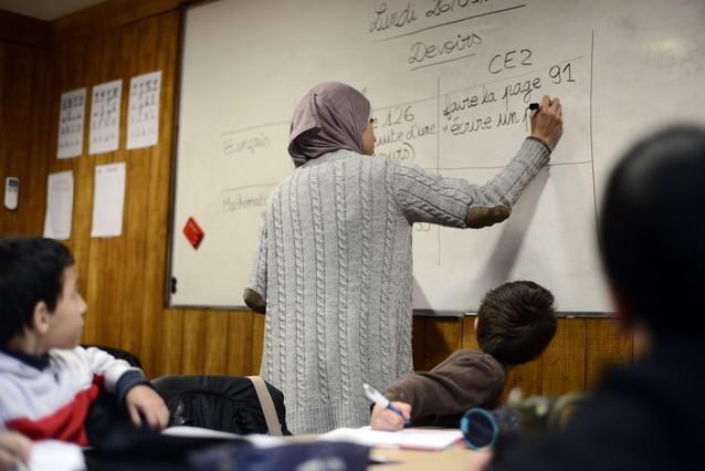Una clase en un colegio de confesión musulmana en Toulouse.