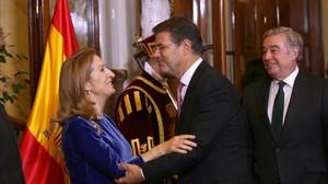 El ministro de Justicia, Rafael Catalá, en la celebración del 39 aniversario de la Constitución.