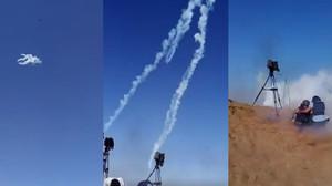 Un vídeo muestra un ataque desde un dron con gases lacrimógenos a periodistas en Gaza