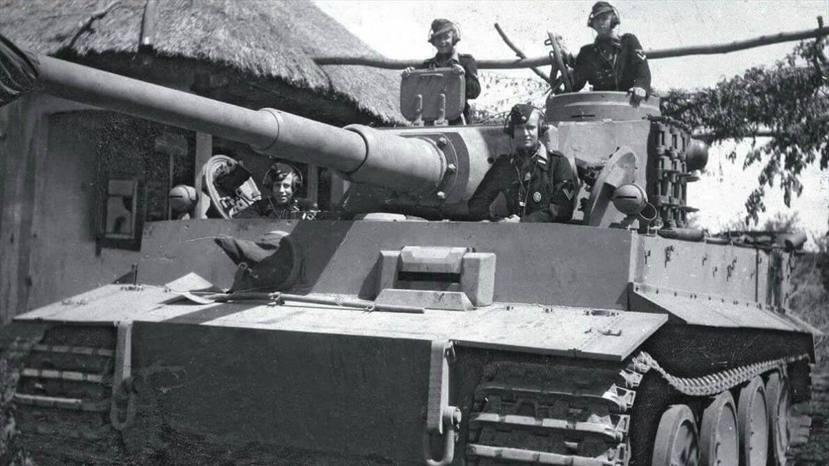 Un tanque nazi Tiger.