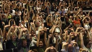 Asistentes al Congreso Internacional de Mindfulness, celebrado esta semana en Zaragoza.