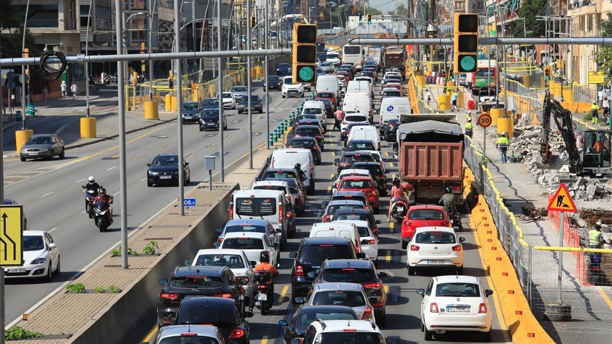 Diverses obres complicaran el trànsit de Barcelona al setembre