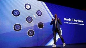 Nokia 9 PureView, el mòbil que compta amb cinc càmeres, anunciat en el MWC 2019