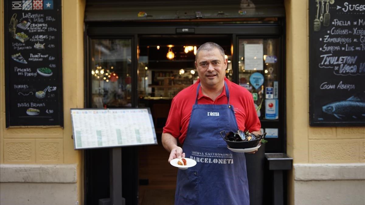 Jaume Muedra, cocinero del restaurante L'Òstia de la Barceloneta.