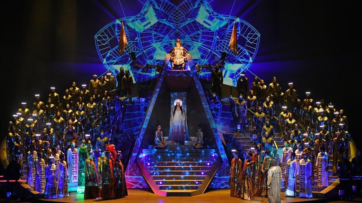 Escena de 'Turandot', de Puccini, en la nuevaversión dirigida porFranc Aleu.