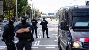 Els Mossos, en màxima alerta per disturbis després de la inhabilitació de Torra