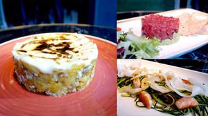 Algunos de los platos de la nueva carta