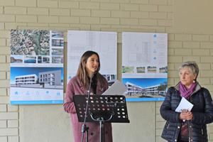 La alcaldesa, Núria Parlon, en la presentación del proyecto.