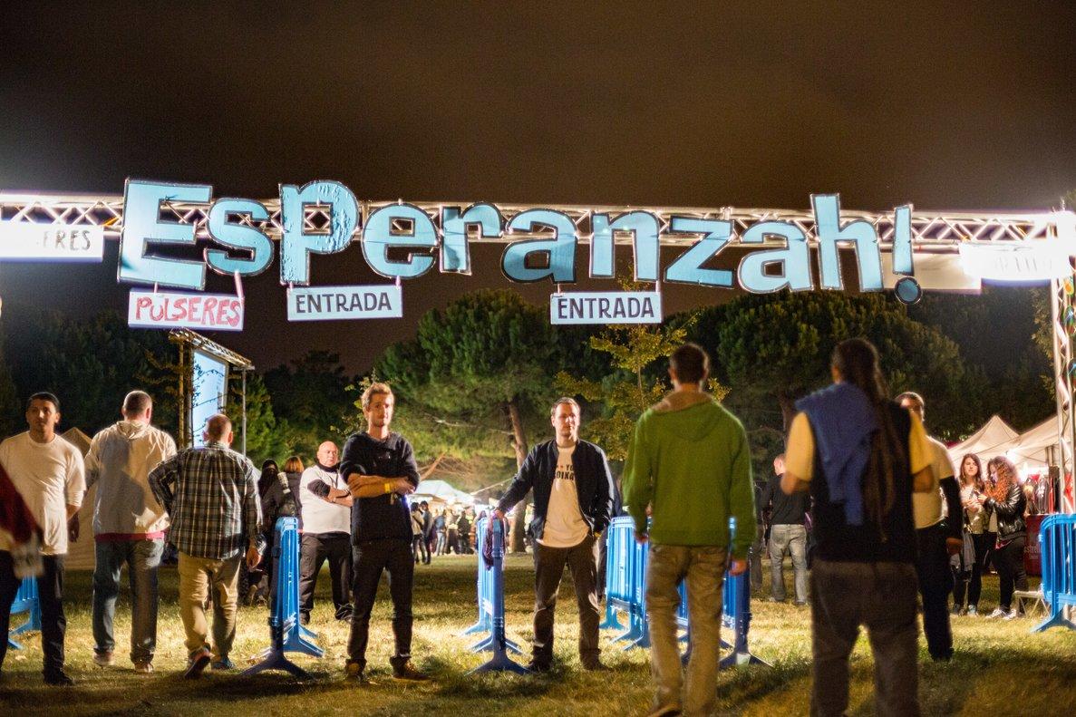Entrada a una edición delfestivalEsperanzah!