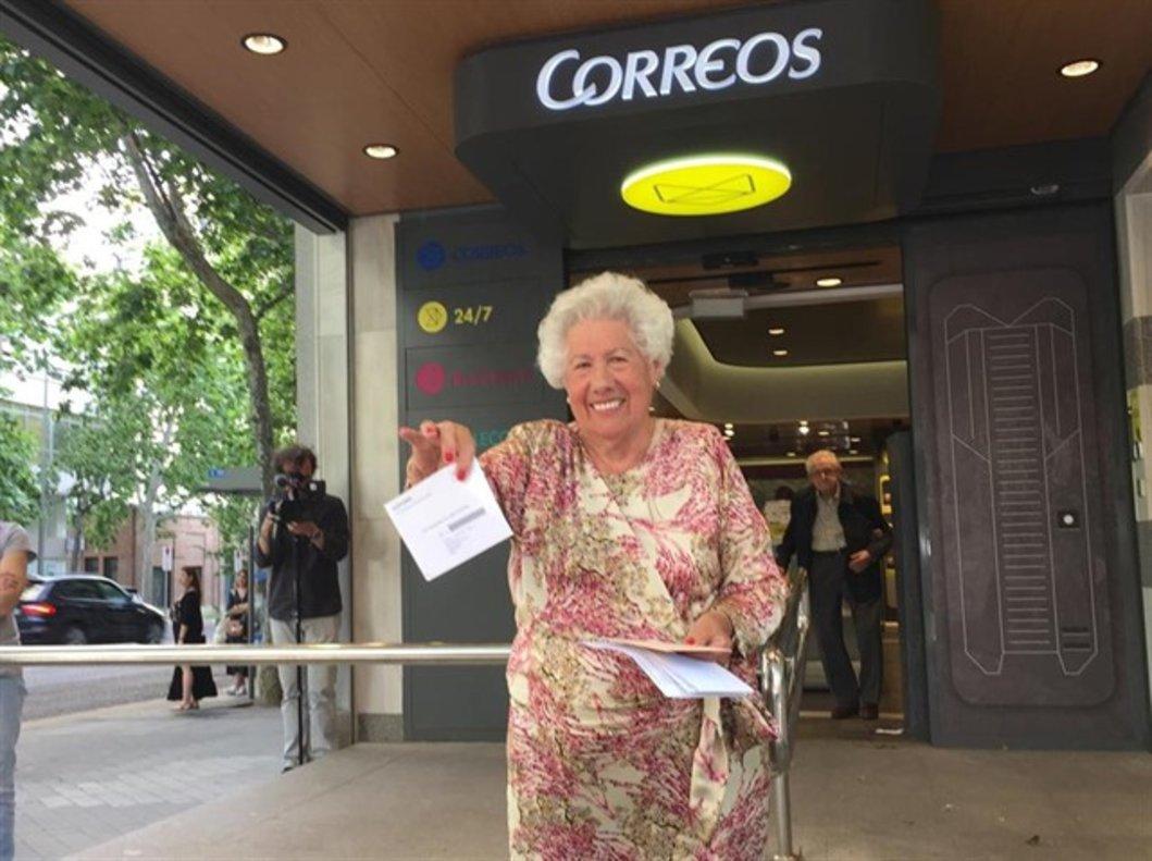 María del Rosario, 'Charito', candidata a la Alcaldía de Abuelas por Patones.