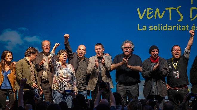 Acto de Arnaldo Otegi en Fabra i Coats, en Barcelona.