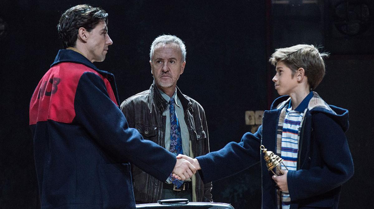 Adrián Lastra, Carlos Hipólito y Pau Gimeno, en Billy Elliot.