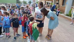 La alcaldesa Raquel Sánchez en la inauguración del curso escolar 2018-2019