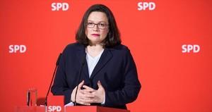 Andrea Nahles, la nueva presidenta del SPD.