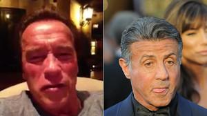 Arnold Schwarzenegger, en el vídeo que le ha dedicado a su amigo Sylvester Stallone.