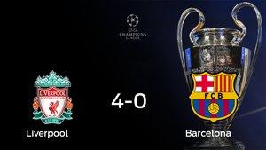 El Barcelona se queda fuera de la Champions League tras perder 4-0 frente al Liverpool
