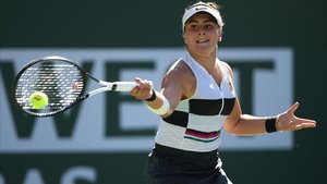 Bianca Andreescu, en la final ante Kerber en Indian Wells.