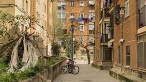 Calle del distrito de Nou Barris de Barcelona.