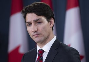 Canadian Prime Minister Justin Trudeau listens to a question during an end of session news conference in Ottawa Adrian Wyld The Canadian Press via AP